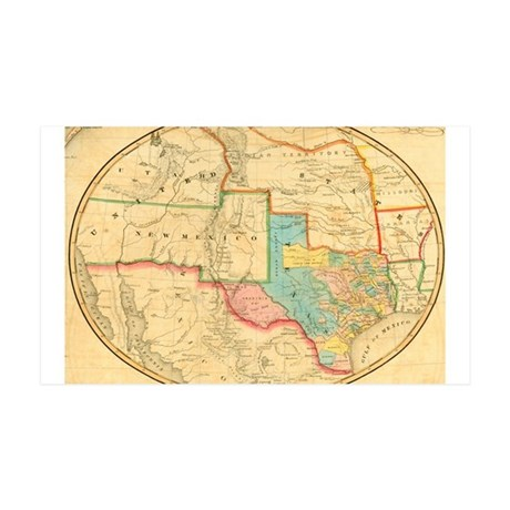 Antique Map of Texas 38.5 x 24.5 Wall Peel