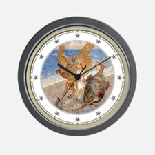 Alice, the Gryphon & the Mock Turtle Wall Clock