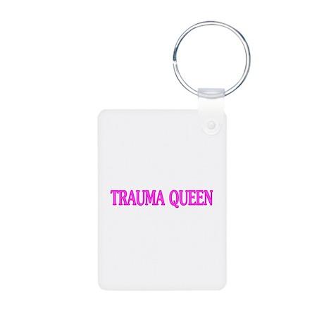 Trauma Queen Aluminum Photo Keychain