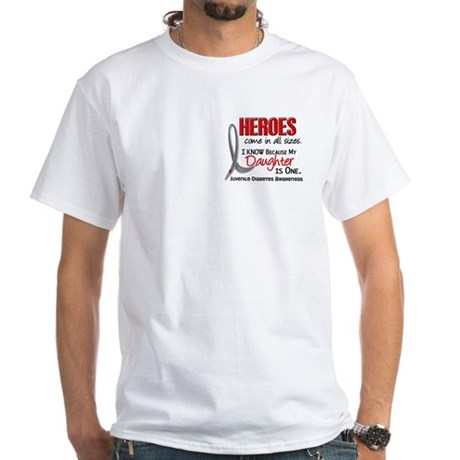 Heroes All Sizes Juv Diabetes White T-Shirt