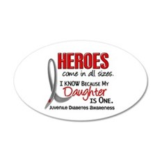 Heroes All Sizes Juv Diabetes 22x14 Oval Wall Peel