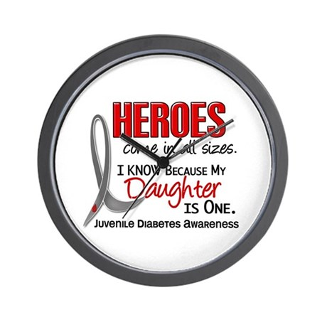 Heroes All Sizes Juv Diabetes Wall Clock