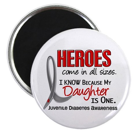 """Heroes All Sizes Juv Diabetes 2.25"""" Magnet (100 pa"""