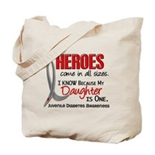 Heroes All Sizes Juv Diabetes Tote Bag