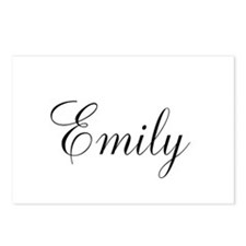 Personalized Black Script Postcards (Package of 8)