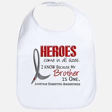 Heroes All Sizes Juv Diabetes Bib