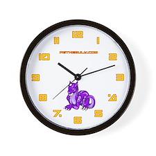 Purple Dragold Wall Clock