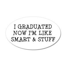 Smart & Stuff Grad 22x14 Oval Wall Peel