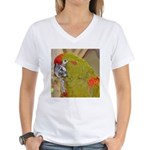 Red-fronted Macaw Women's V-Neck T-Shirt