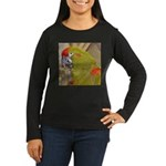 Red-fronted Macaw Women's Long Sleeve Dark T-Shirt