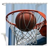 Basketball shower curtain Shower Curtains
