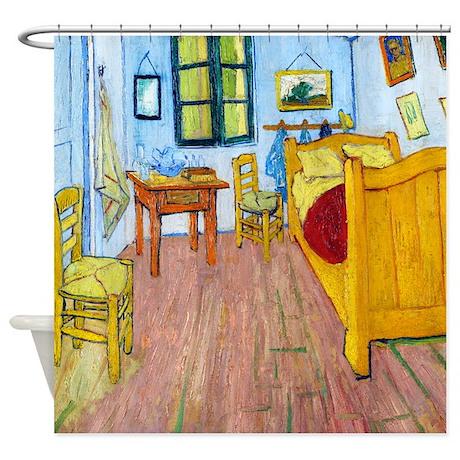 Van Gogh - Bedroom at Arles Shower Curtain
