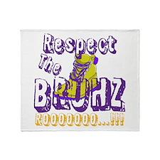 Respect the Bruhz Throw Blanket