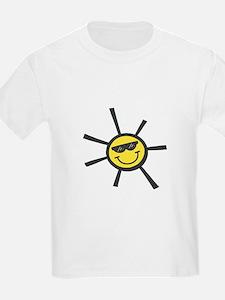 Sun Smiley in Shades Kids T-Shirt