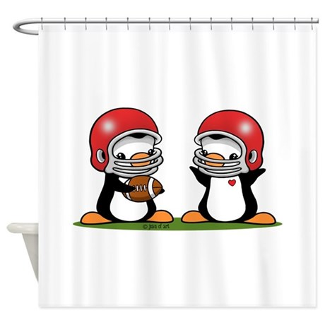 I Love Football Shower Curtain