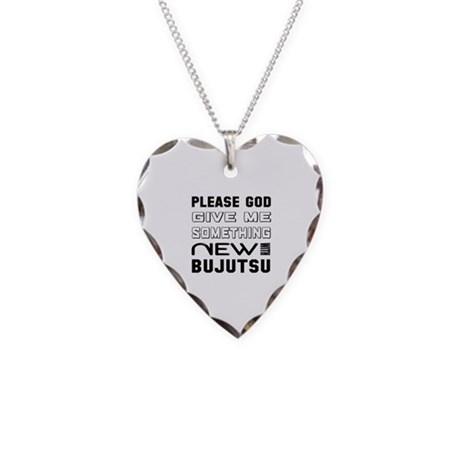 Please God Give Me Something Necklace Heart Charm