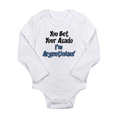 Bet Your Asado Argentinian Long Sleeve Infant Body