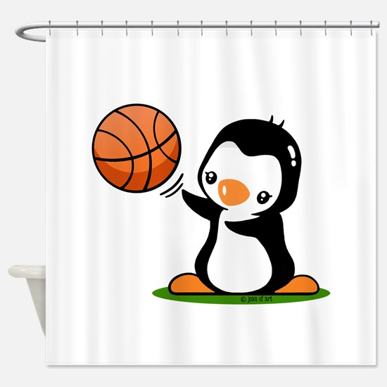 I Like Basketball Shower Curtain