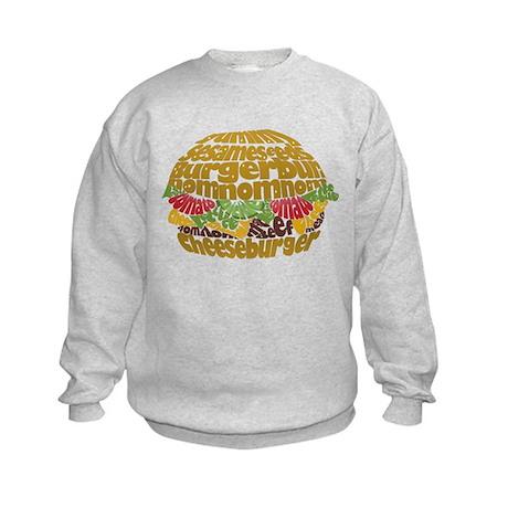 Cheeseburger Kids Sweatshirt