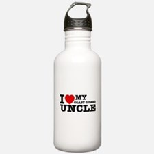 I love My Coast Guard Uncle Water Bottle