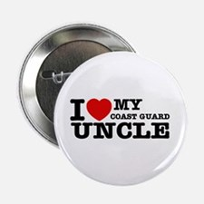 """I love My Coast Guard Uncle 2.25"""" Button (100 pack"""