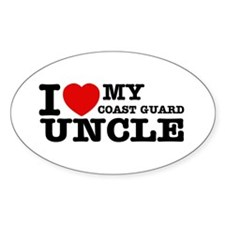 I love My Coast Guard Uncle Decal