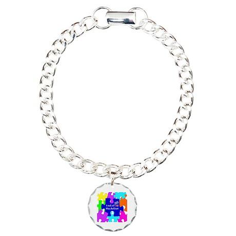autismawareness2012 Charm Bracelet, One Charm
