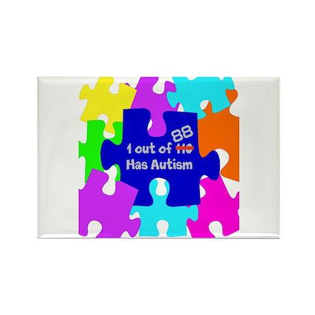 autismawareness2012 Rectangle Magnet