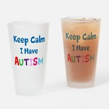 Autismawareness2012 Keep Calm Drinking Glass