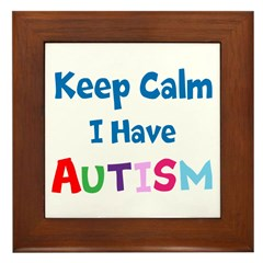 Autismawareness2012 Keep Calm Framed Tile