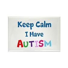 Autismawareness2012 Keep Calm Rectangle Magnet