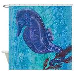 Seahorse Shower Curtain By Uiad