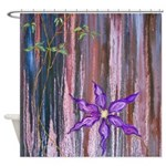 Clematis Shower Curtain By Uiad