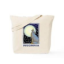 Insomnia Full Moon Wolf Tote Bag