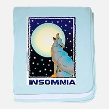 Insomnia Full Moon Wolf baby blanket