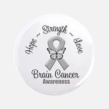 "Strength Brain Cancer 3.5"" Button"