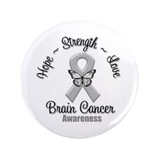 "Strength Brain Cancer 3.5"" Button (100 pack)"
