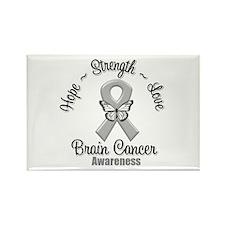 Strength Brain Cancer Rectangle Magnet