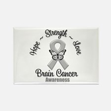 Strength Brain Cancer Rectangle Magnet