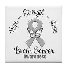 Strength Brain Cancer Tile Coaster