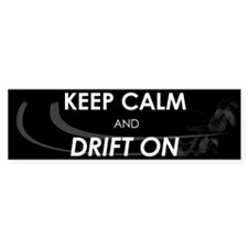 10x3_sticker_drift_on Bumper Bumper Sticker