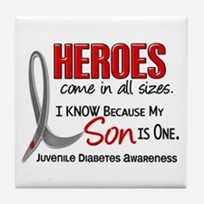 Heroes All Sizes Juv Diabetes Tile Coaster