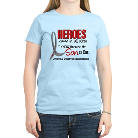 Heroes All Sizes Juv Diabetes Women's Light T-Shir