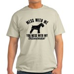 Schnauzer Dog design Light T-Shirt