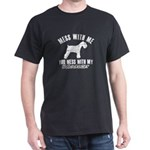 Schnauzer Dog design Dark T-Shirt