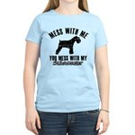 Schnauzer Dog design Women's Light T-Shirt