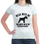 Schnauzer Dog design Jr. Ringer T-Shirt