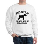 Schnauzer Dog design Sweatshirt