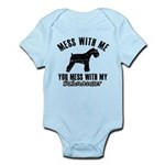 Schnauzer Dog design Infant Bodysuit