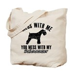 Schnauzer Dog design Tote Bag